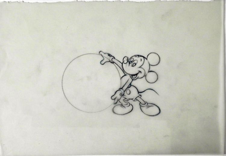 750x517 Original Drawing Disney Mickey Mouse Animation Big Ball