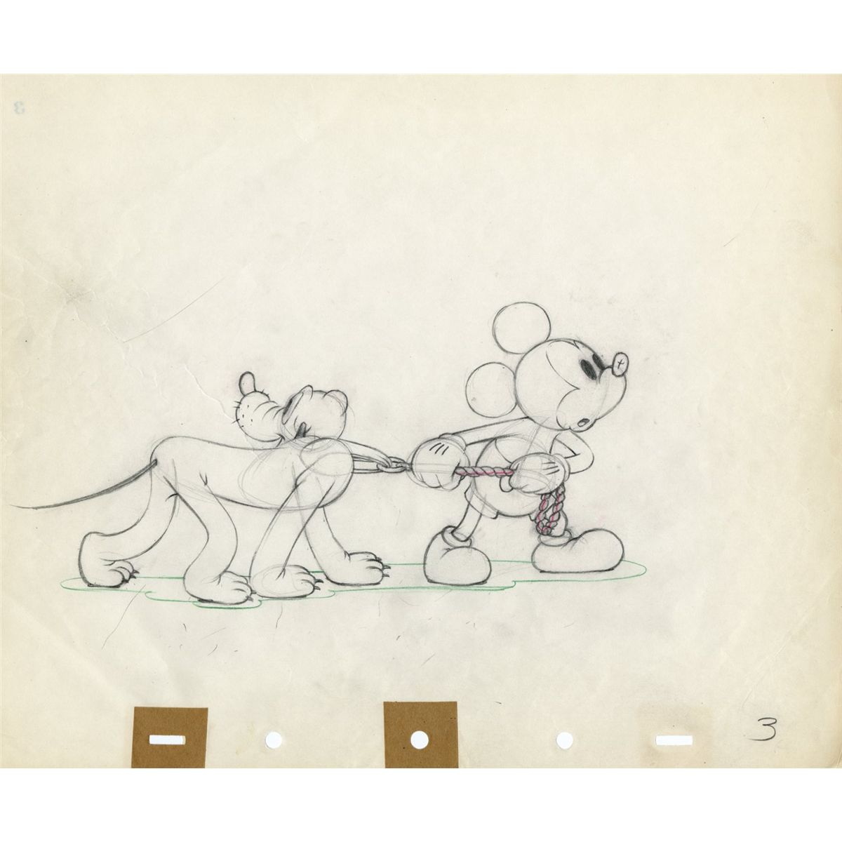 1200x1200 Original Production Drawing Of Mickey Mouse And Pluto From Society