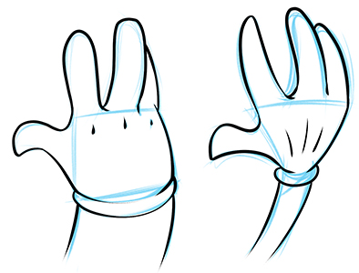 394x300 How To Draw Cartoon Hands