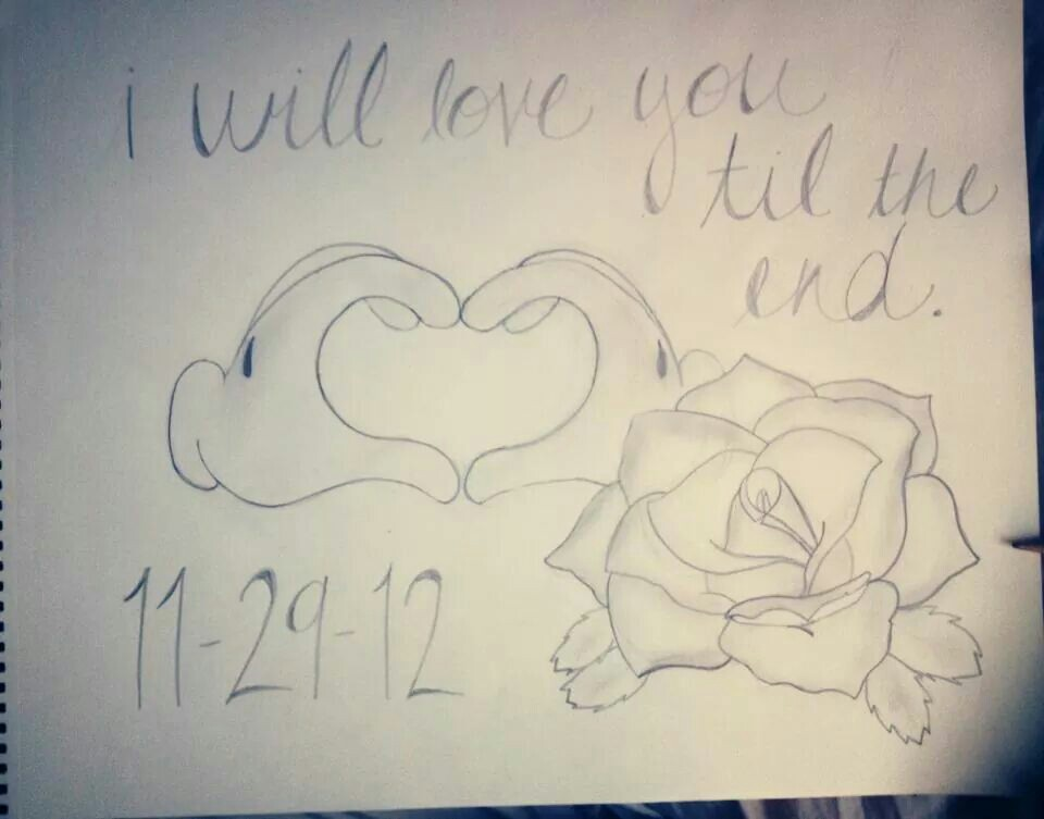 960x753 Mickey Mouse Hands In Heart Rose Drawing Adrianna Drawings
