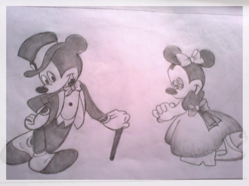 825x619 photos mickey mouse pencil sketch