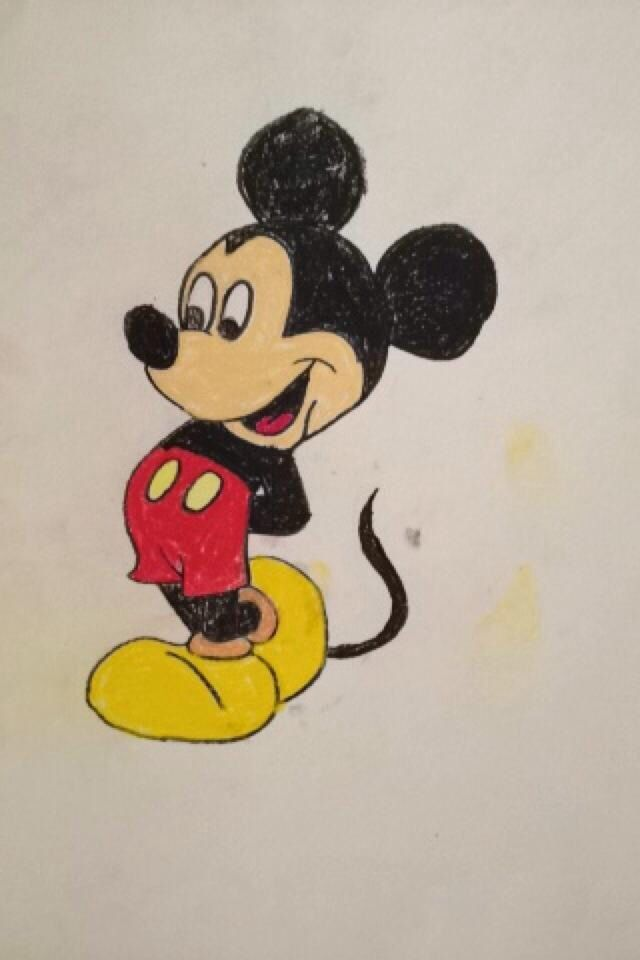 640x960 Mickey Mouse Chalk Pastel Sketch Drawings Chalk
