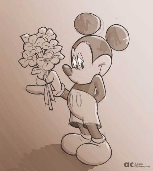 536x600 Mickey Mouse Sketches And Drawings Character Sketches, Mickey