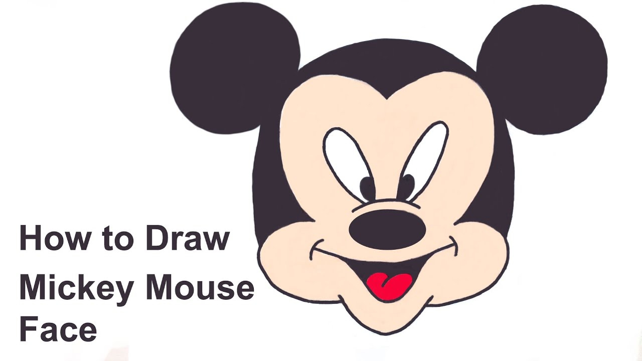 1280x720 Easy Mickey Mouse Drawing How To Draw Mickey Mouse Face
