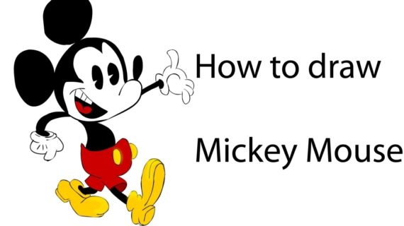 570x320 How To Draw Mickey How To Draw Mickey Mouse Tutorial Drawing