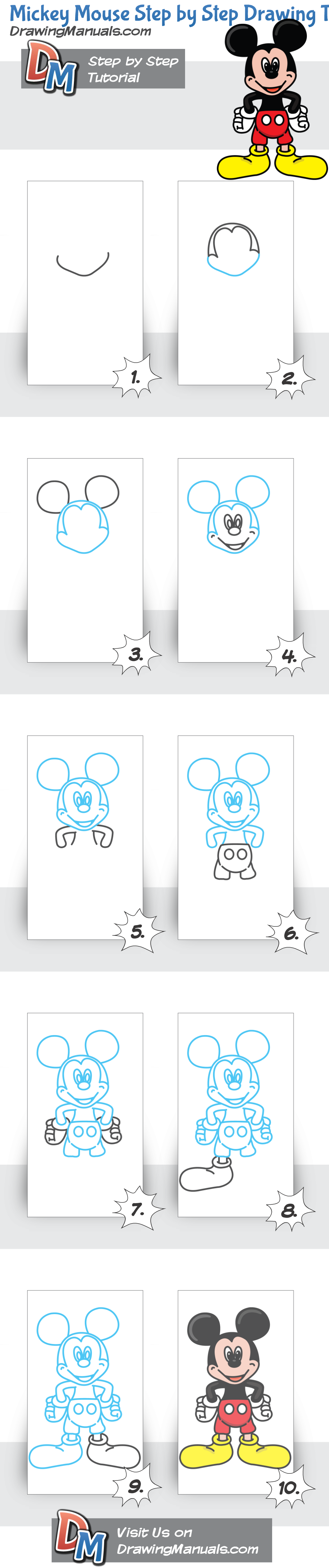1024x4873 How To Draw Mickey Mouse, Step By Step Drawing Tutorial Doodles
