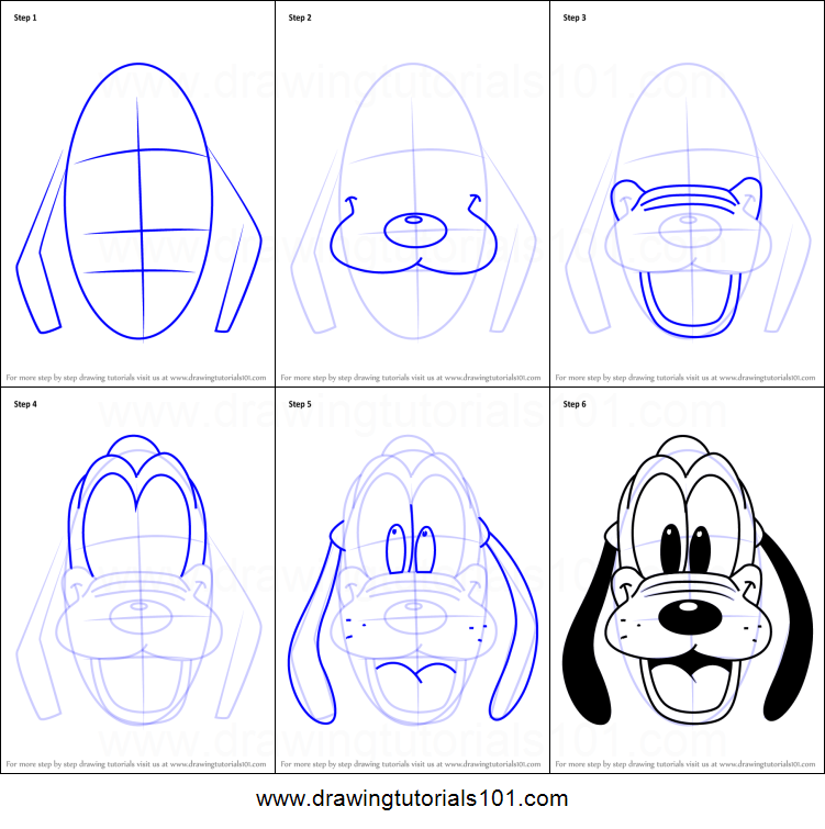 751x755 How To Draw Pluto Face From Mickey Mouse Clubhouse Printable Step