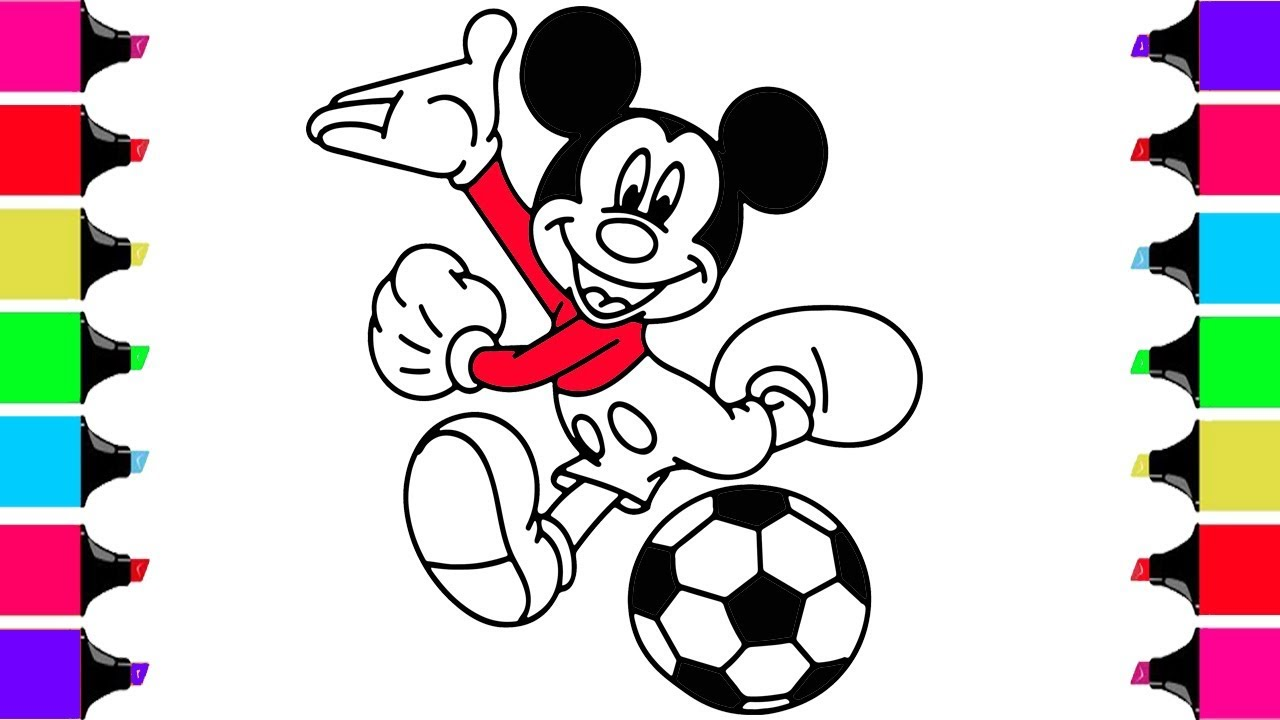 1280x720 How To Draw Mickey Mouse Step By Step For Kids