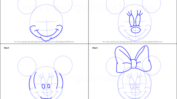 570x320 Minnie Mouse Drawing Step By Step How To Draw Minnie Mouse Face