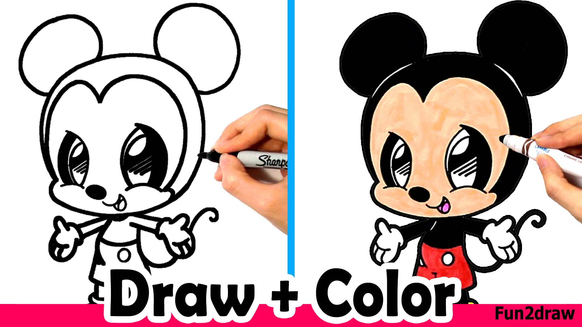 1920x1080 Step By Step Mickey Mouse Drawing