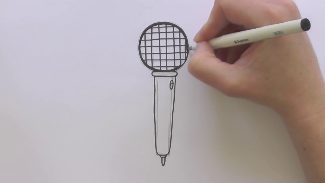 1280x720 How To Draw A Cartoon Microphone