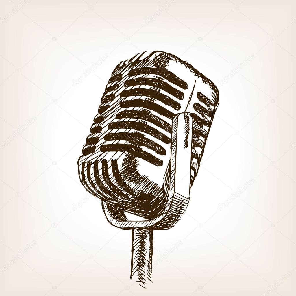 Microphone Drawing At Free For Personal Use Vintage Microphones Wiring Diagrams 1024x1024 9170800
