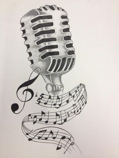 236x314 Old Microphone With Music Notes