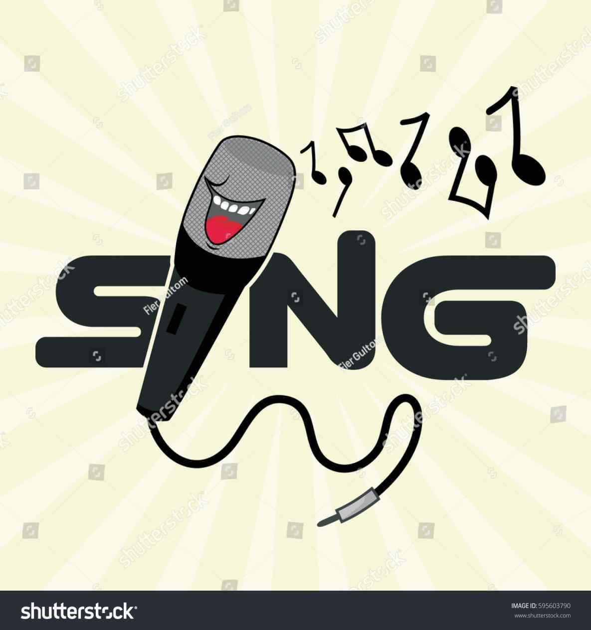 1185x1264 Sing Al Note Vector Stock Funny Grey Background Funny Microphone