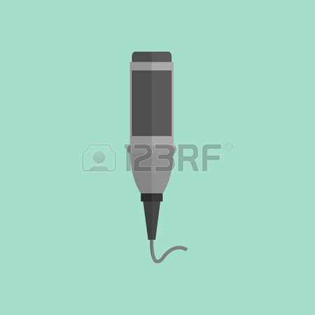 450x450 Microphone Design Flat Isolated Icon, Vintage Microphone Stand