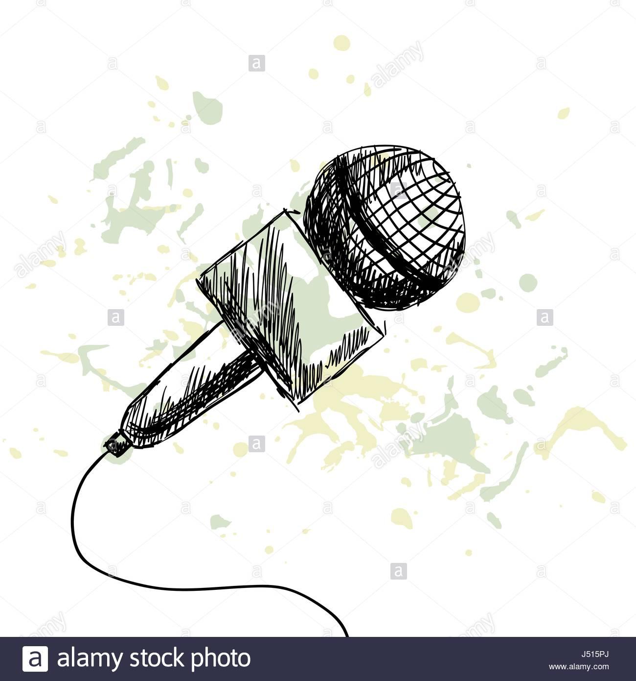 1300x1390 News Report Microphone Stock Vector Art Amp Illustration, Vector