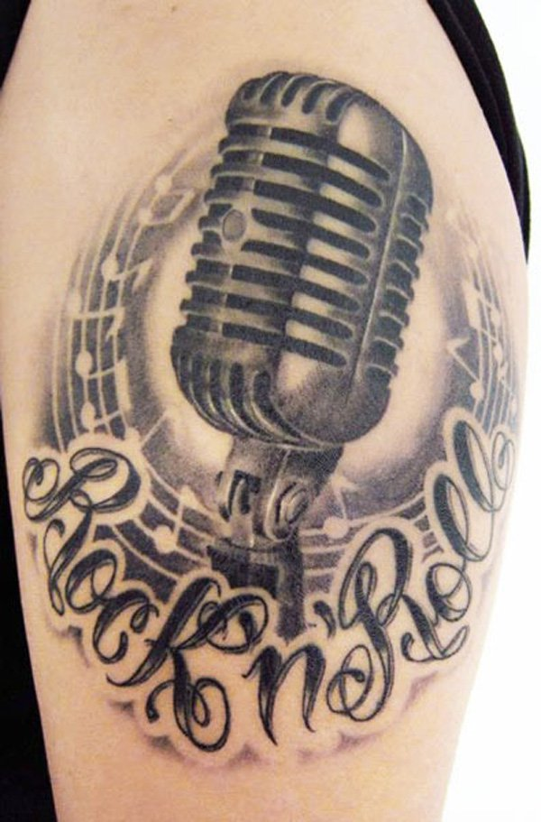 600x911 60 Awesome Music Tattoo Designs Art And Design