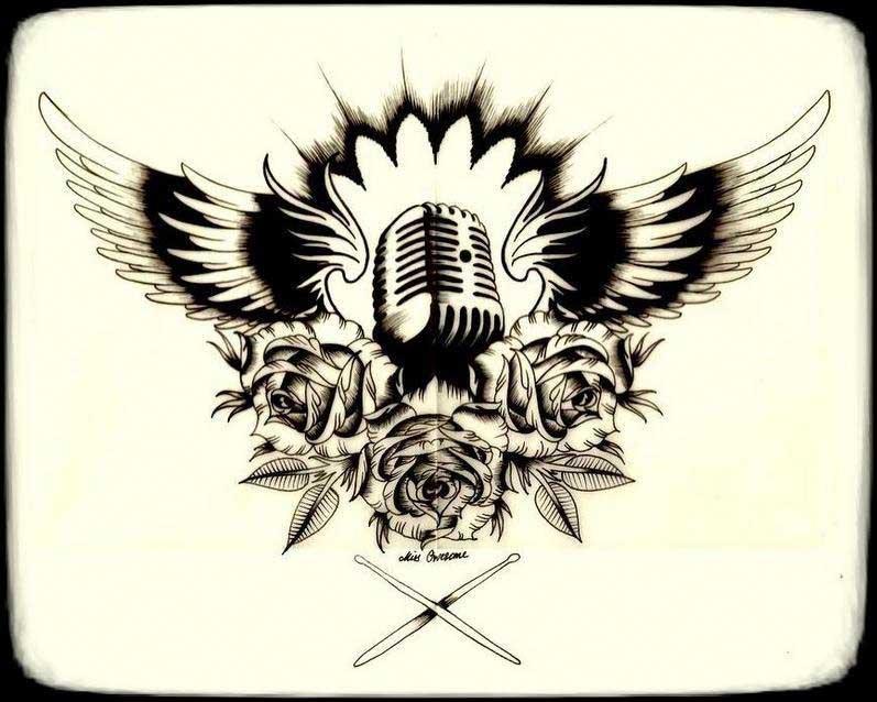 797x638 Microphone Tattoo Designs Best Tattoo Designs