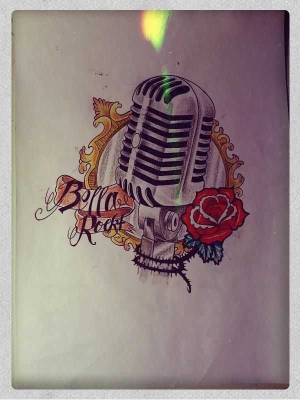 600x800 Old Microphone Tattoo Drawing By Mibooo