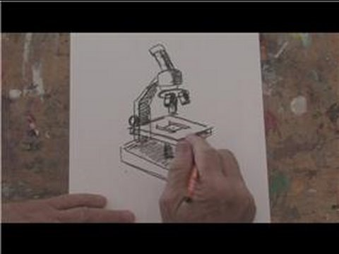 480x360 Drawing Basics How To Draw A Microscope