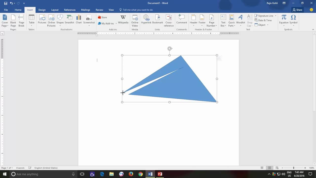 1280x720 Edit Shape Points And How To Use Connectors Microsoft Word 2016