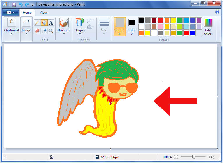 764x557 How To Draw A Sprite (Microsoft Paint) 6 Steps (With Pictures)