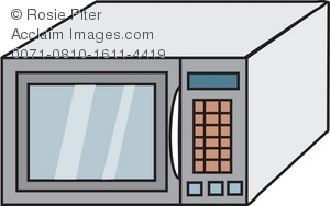 300x188 Clip Art Drawing Of A Modern Microwave Oven As Seen In The Typical