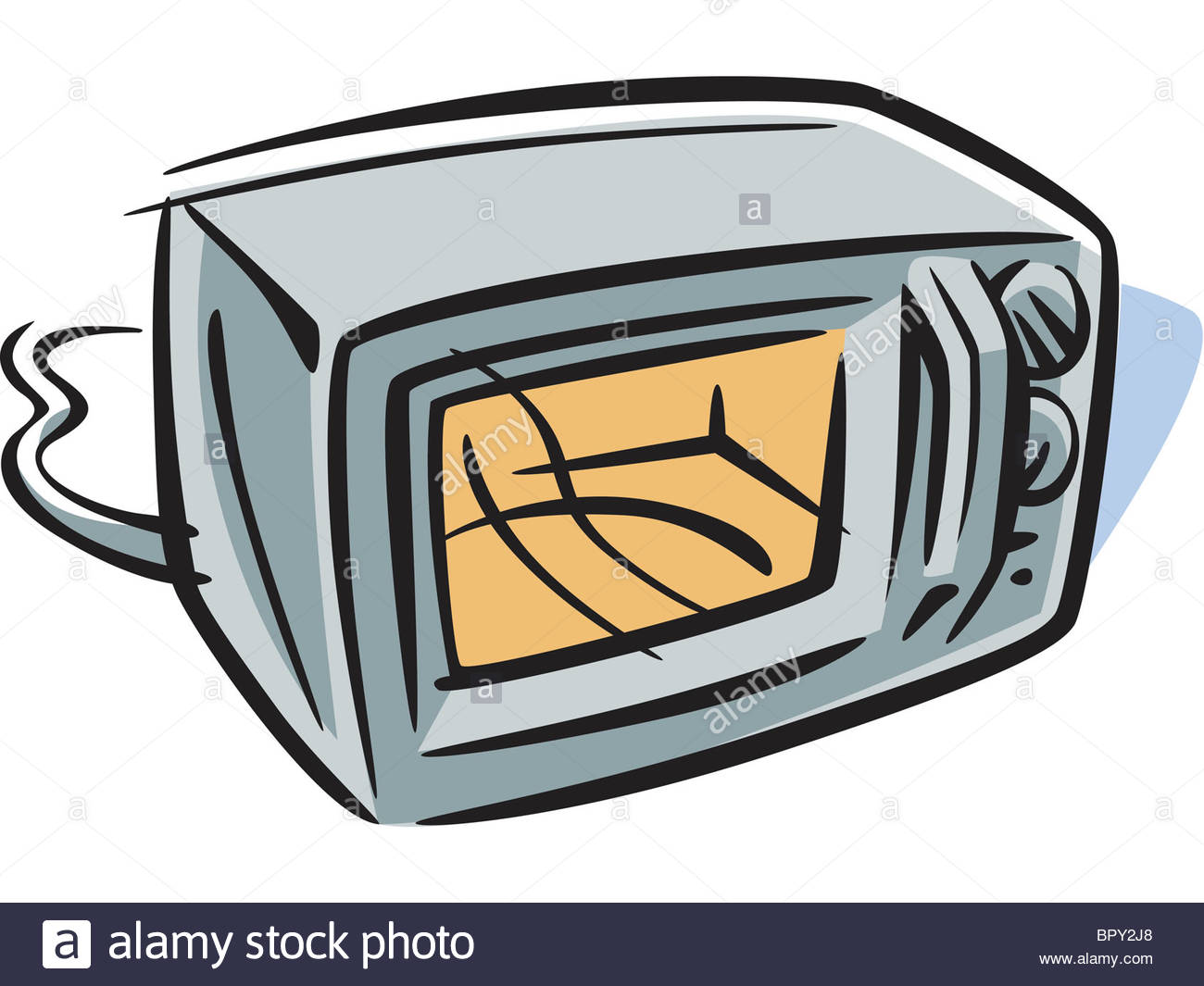 1300x1065 Drawing Of A Microwave Oven Stock Photo 31327584