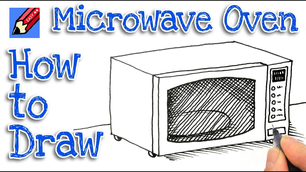 1280x720 How To Draw A Microwave Oven Real Easy