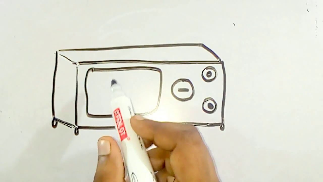 1280x720 Online Drawing For Kids How To Draw A Microwave