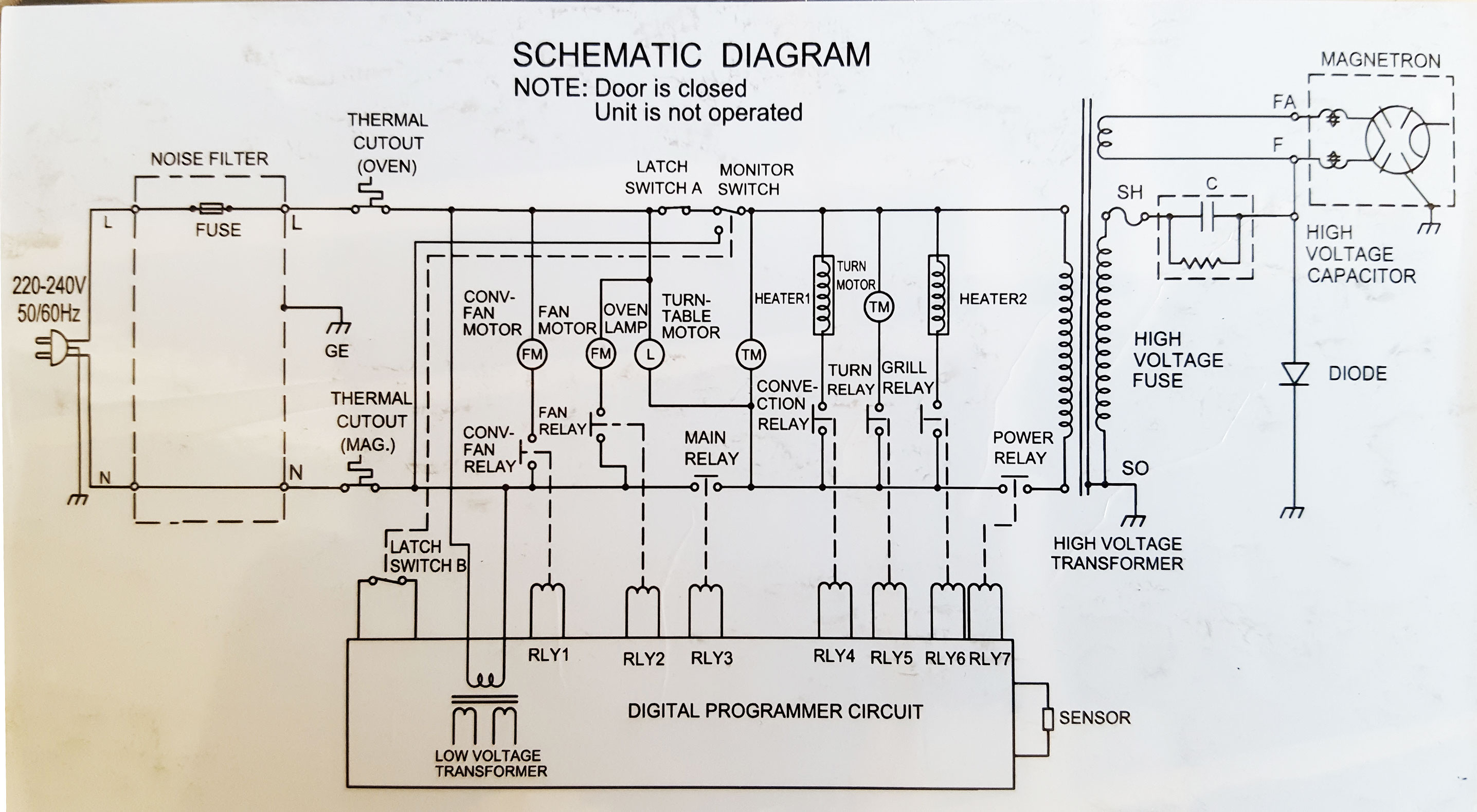 Wiring Diagram Of Samsung Microwave Oven Electronics Repair ... on