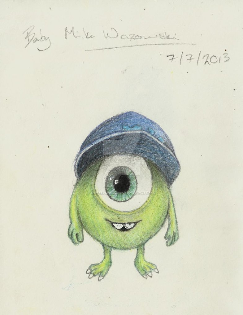 785x1017 Baby Mike Wazowski Drawing By Thefervidsubmissive