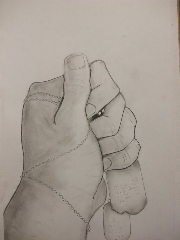 600x800 Hand Drawing With Dog Tags By Skeelz7755