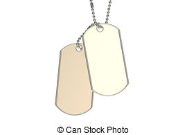 270x195 3d White People. Veterans Day. Dog Tags. 3d White People