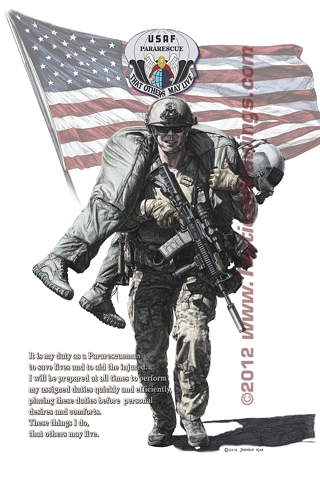 640x960 Air Force Soldier Drawing