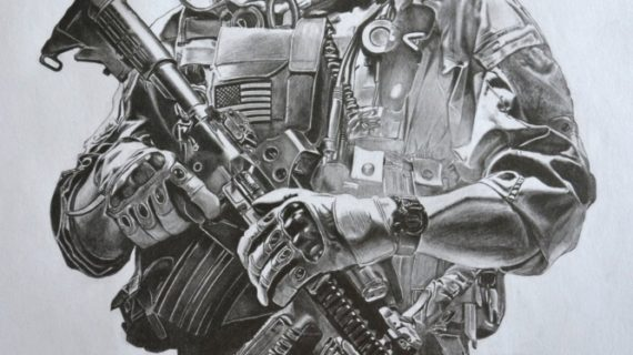 570x320 Military Pencil Drawings