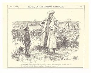 300x242 Military Man And Cadet Private Smith 1909 Punch Cartoon Picture