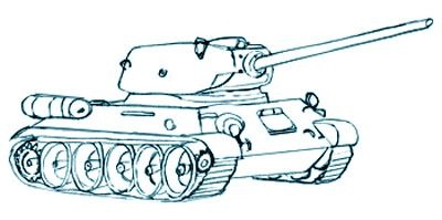 400x199 Drawing A Military Tank, Step 6 How To Draw Instructions