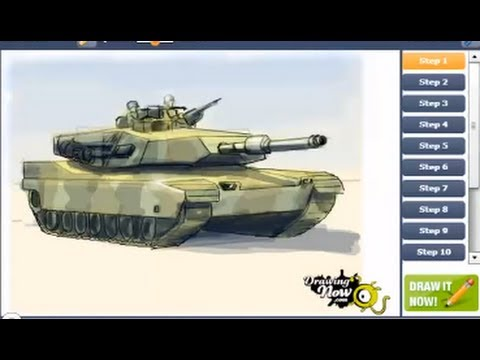 480x360 How To Draw A Military Army Tank