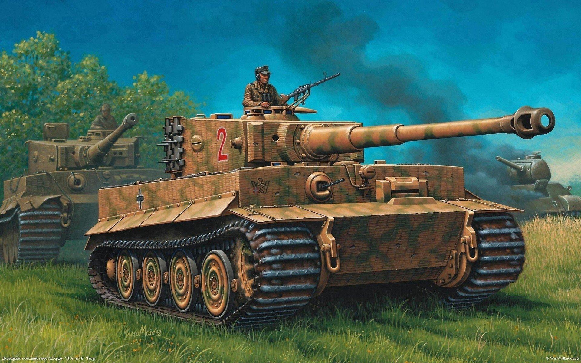 1920x1200 War Tank Drawing Tiger Hd Wallpaper