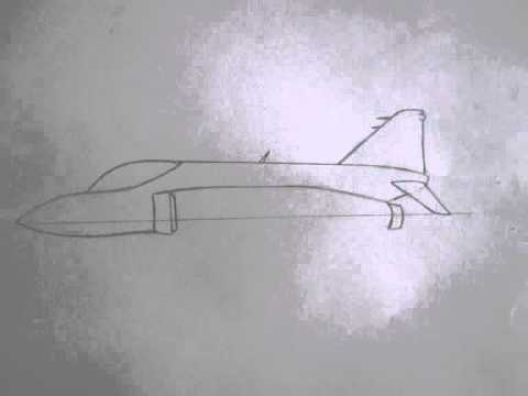 480x360 How To Draw Military Vehicles F 4 Phantom Fighter