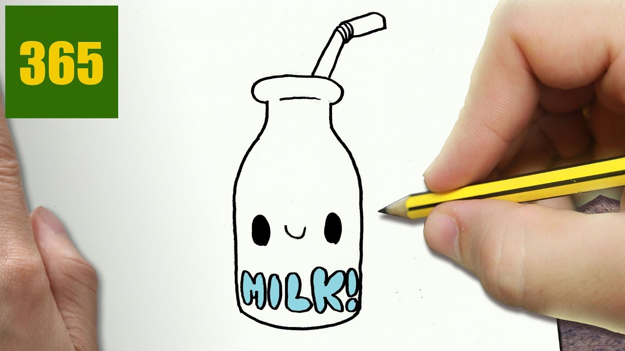 1280x720 How To Draw A Milk Cute, Easy Step By Step Drawing Lessons