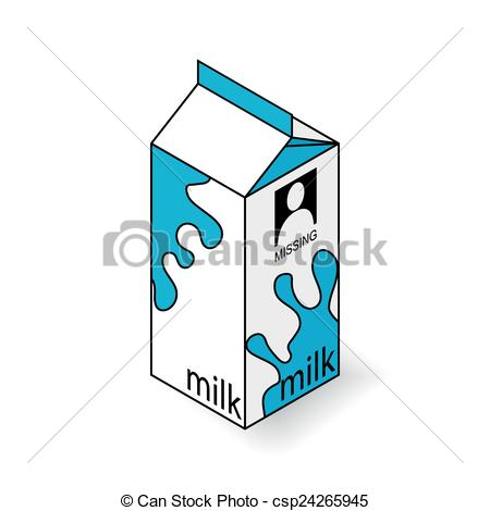 450x470 Milk Carton On A White Background. Isometric Vector Eps Vector