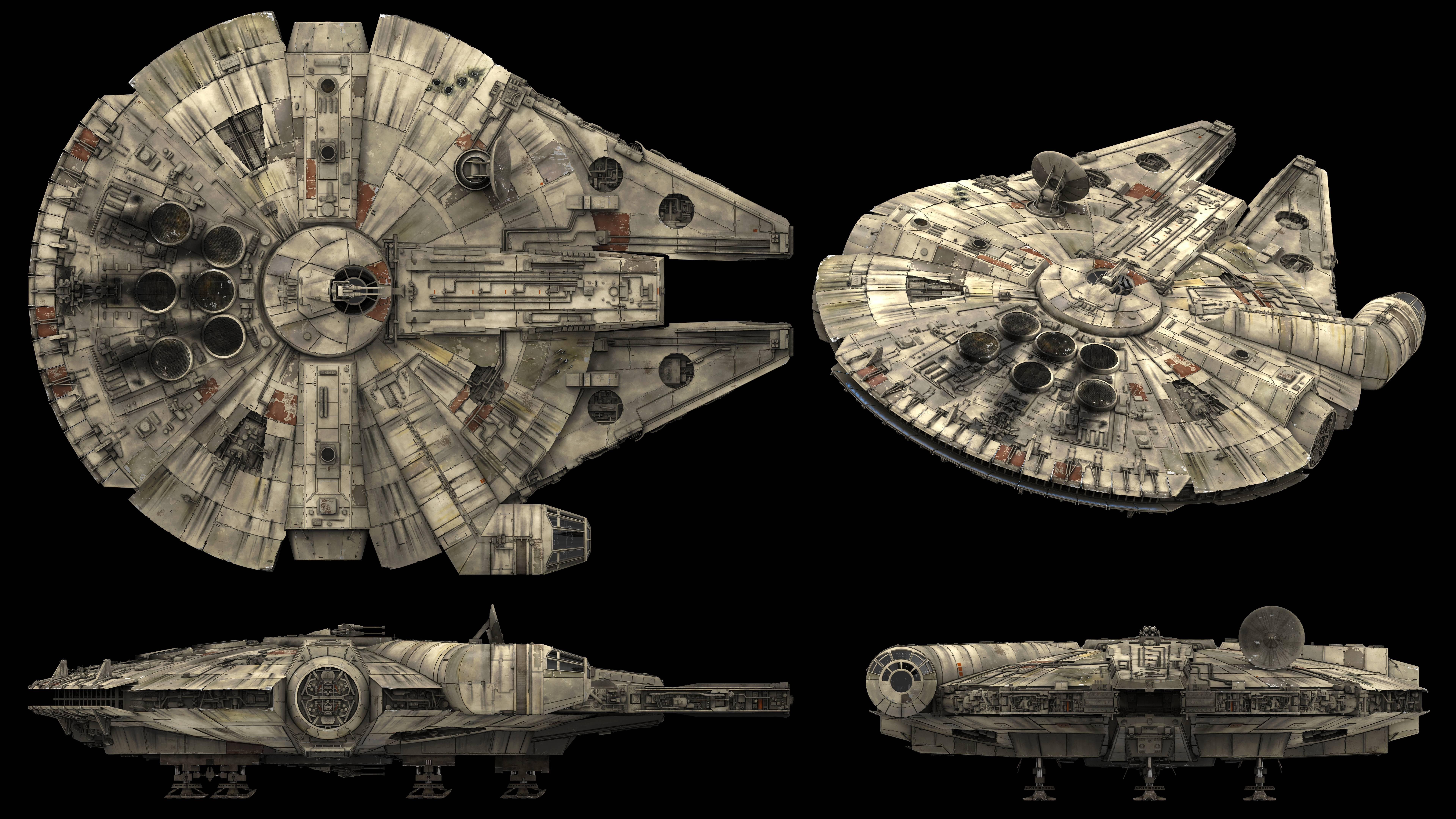 7680x4320 8k (7680x4320) Millennium Falcon