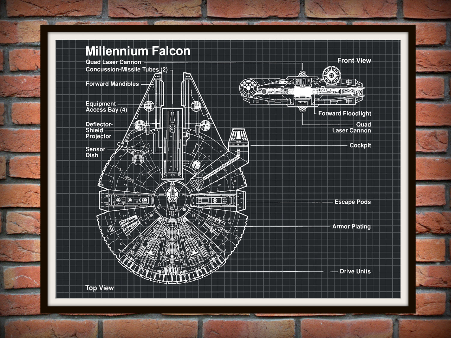 Millennium Falcon Technical Drawing at GetDrawings.com | Free for ...