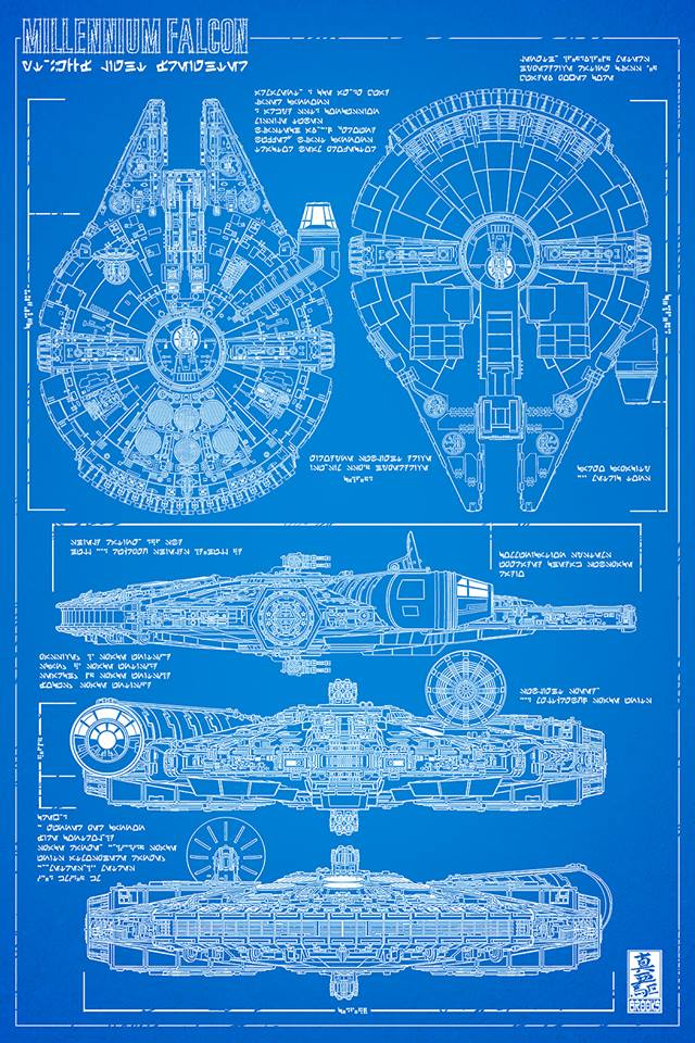 Millennium Falcon Technical Drawing At Getdrawings Free