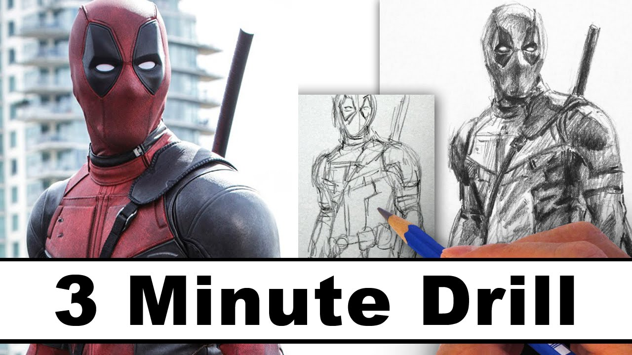 1280x720 How To Draw Deadpool In 3 Minutes