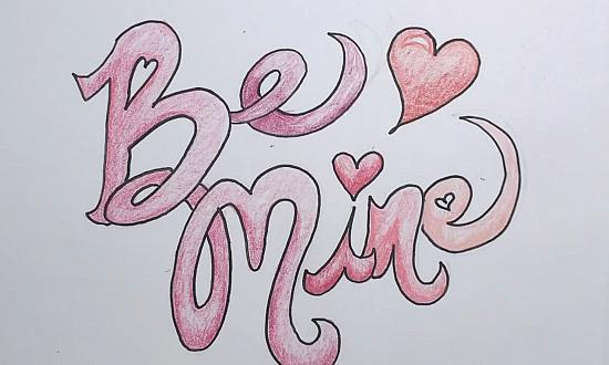 550x330 Drawing Valentine Pictures Valentines Day Drawing Be Mine Download