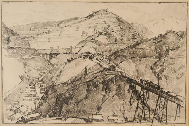800x532 Copper Mine Drawing By Jonas Lie (New York, 1880 1940) View Four