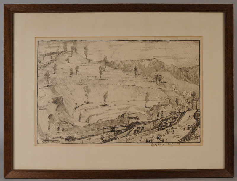 800x612 Copper Mine Drawing By Jonas Lie (New York, 1880 1940) View Three